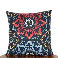 Moroccan Style Blue Pillow. 46 x 46cm