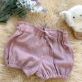 BLUSH LINEN bloomer shorts, sz 00