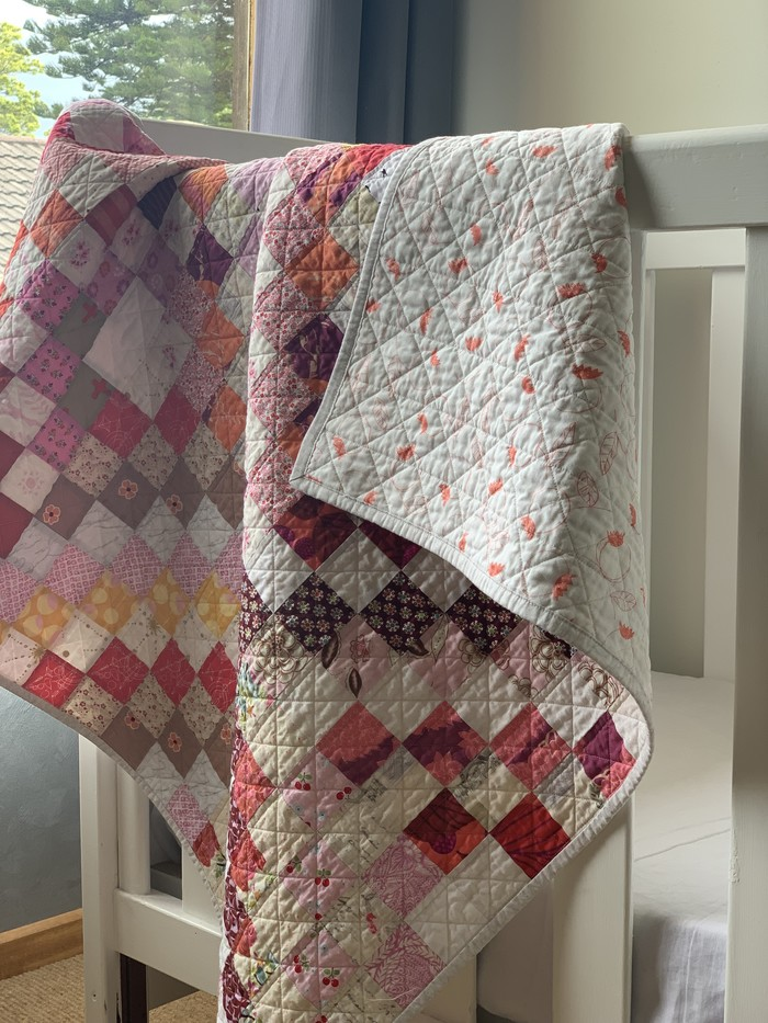 Handmade Contemporary BabyToddler Quilt