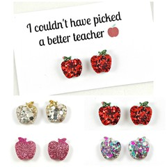 Teacher earrings - Apple studs