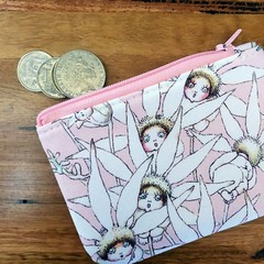 Coin purse - May Gibbs pink flowers