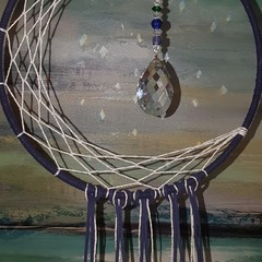 Moon dream catcher - dreamcatcher - sun catcher - wall hanging