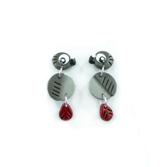 African Grey Parrot Earrings - Polymer Clay Statement Earrings