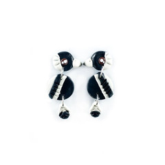 Australian Magpie Earrings - Polymer Clay Statement Earrings