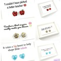 Teacher earrings - flower studs