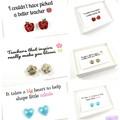 Teacher earrings - Apple studs
