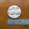Sheet Music Pocket Mirror, recycled sheet music