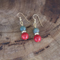 Australian Bloodstone and Red Gemstone Earrings