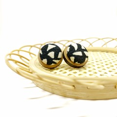 Wooden Fabric Button Studs