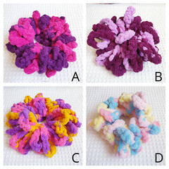 Crochet Chenille Scrunchies