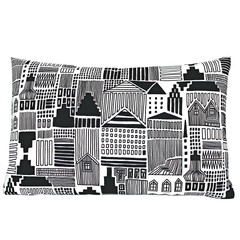 Long Black Pillow Sham. Men Office Decor Gift.