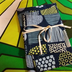 Handy Bags-Abstracts Print in Blues and Chartruese