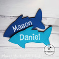Kids Personalised Icy Pole Holder * Zooper Dooper * Icypole Mermaid Shark