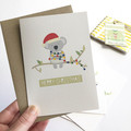 Set of 5 Assorted Australian Christmas Cards, 5P026