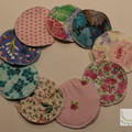 Breast pads, reusable pads, nursing Set of 3