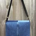 Upcycled Denim Messenger Bag
