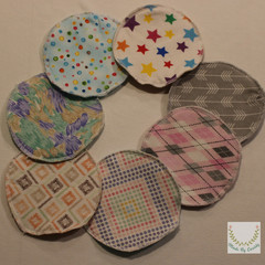 Breast pads, reusable pads, nursing Set of 6