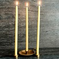 Handmade beeswax candles, 20cm tall by 1cm base artisan crafted candle