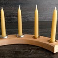 Waldorf or Steiner, natural eco friendly beeswax candles for family celebrations