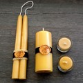 Romantic candle gift set. Australian beeswax  wedding/ engagement present.