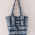 French Style Tote Icon Script, Shop, Gift, Just for Fun.