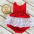 Christmas Playsuit with Lace Detail