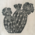 Linen decorative cushion cover- Block printed fabric - Throw pillow