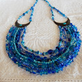 Blue Multi Strand Necklace