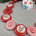 CHRISTMAS - Reindeer - Button Necklace and Earrings