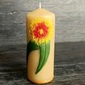 Australian Christmas decoration, Australiana, Aussie Xmas, Gumleaf flower candle