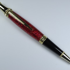 Red Sparkle Resin Lancer Pen