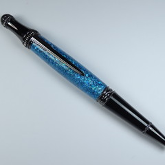 Light Blue Sparkle Resin Lancer Pen