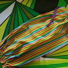 Plastic Bag Storer-Bright multi stripes