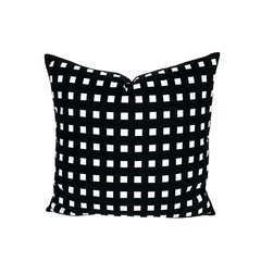 Modern Black Pillow. Geometric Decor.