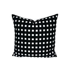 Modern Black Pillow. Geometric Decor.