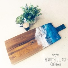 Ocean Resin Art Serving Board