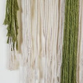 Stachi large Macrame wall hanging in pistachio and cream