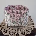 Fabric Storage Basket, Nursery, Toy Holder, Bread Roll Basket, Craft Room