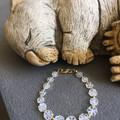 Crystal Flower Gemstone Bracelet
