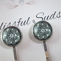 Glass Button Hairpin - Style #1  -