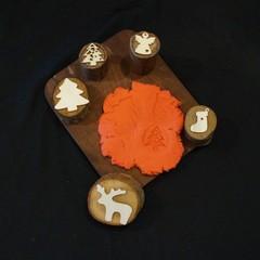 Christmas play dough stamps (set 1)