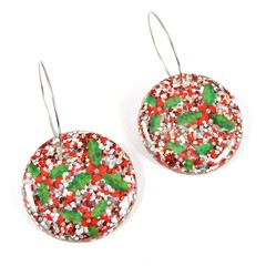 Holly disc earrings