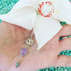 Lotus Blossom Organic Yoga Spiritual Necklace