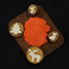 Christmas play dough stamps (set 3)