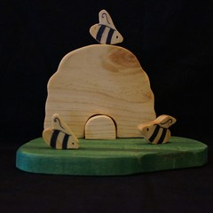Wooden Beehive play set