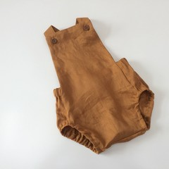 Golden linen Romper ( select size 0000-3)