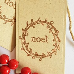 Noel Christmas Gift Tags - 12 Pack
