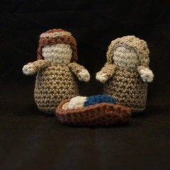 3 piece crochet nativity set 1