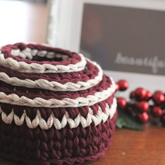 Crochet baskets - matching set.