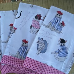 Sharon's  Cat Themed Tea Towels